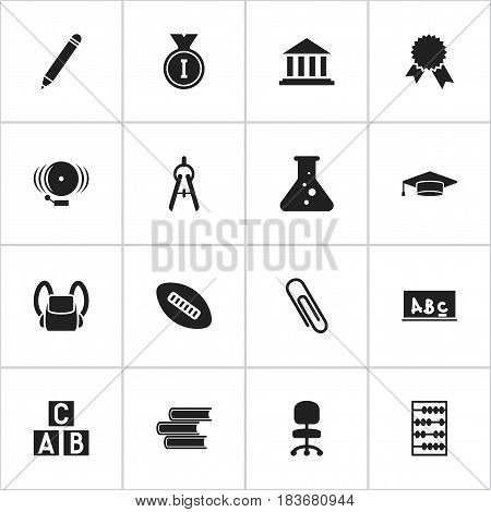 Set Of 16 Editable Graduation Icons. Includes Symbols Such As Pencil, First Place, Arithmetic And More. Can Be Used For Web, Mobile, UI And Infographic Design.