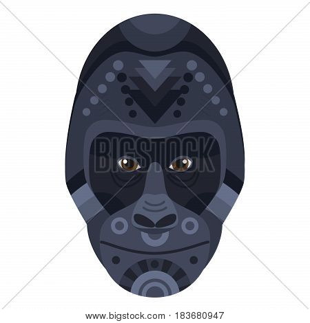 Gorilla Head Logo. Vector decorative Emblem isolated.