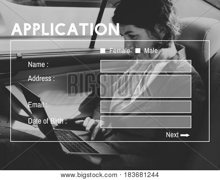 Account Log in Application Form Icon