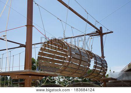 a children playground wood outdoor for fun