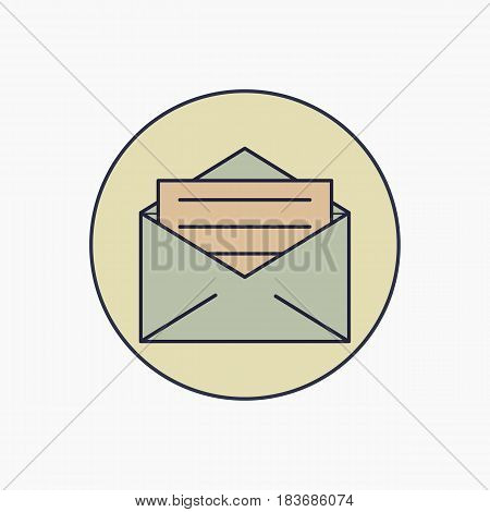 email icon line - vector eps 10