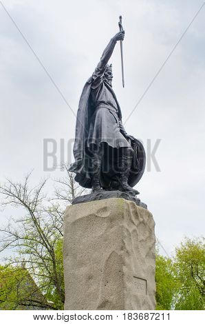 Statue of King Alfred Winchester hampshire UK