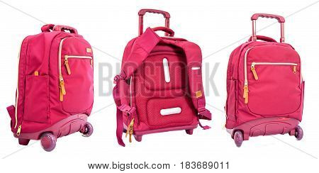 Children's School Trolley Bag Red Color