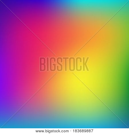 Abstract rainbow background. Blurred colorful rainbow background. Mesh background of rainbow colors. Vector illustration
