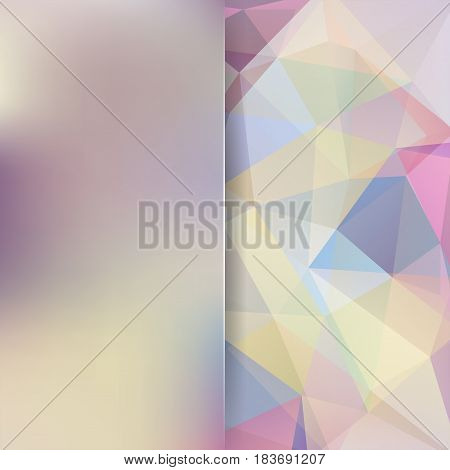 Abstract Pastel Polygonal Vector Background. Colorful Geometric Vector Illustration. Creative Design