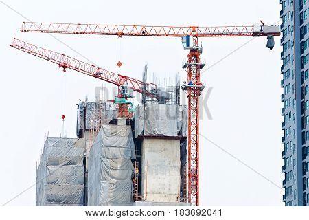 Building With Cranes.
