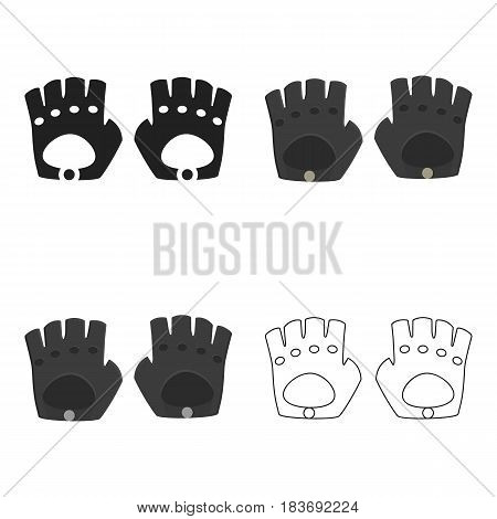 Leather gloves icon of vector illustration for web and mobile design