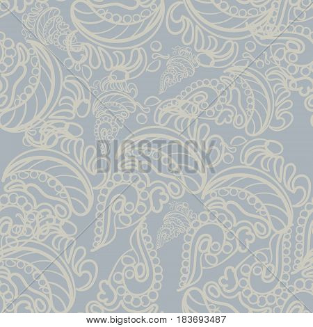 Seamless abstract pattern hand drawn texture for Wedding Bridal Valentine s day or Birthday Invitations. Floral background. Fabric or paper print floral geometric background.