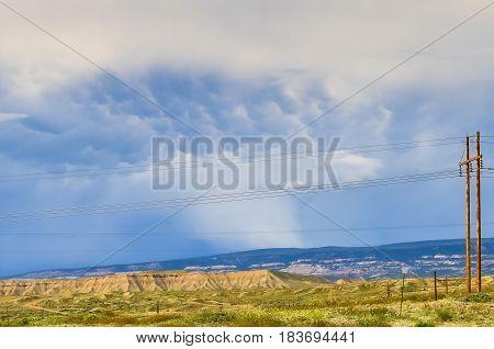 Mammatus Cloud In Colorado