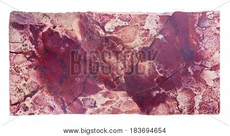red jasper isolated on white background