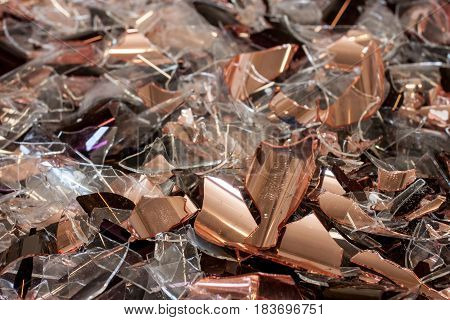 colorful broken glass concept for problem and something damaged background