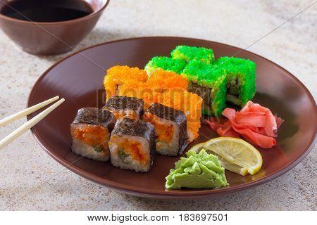 Sushi Seth Roll - Roll Green Mile, Roll Mr.krabs, Roll Okinawa.