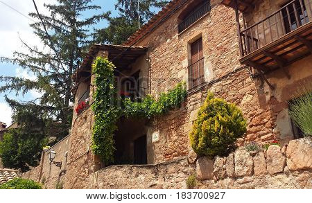 Stoned house building architecture in a village