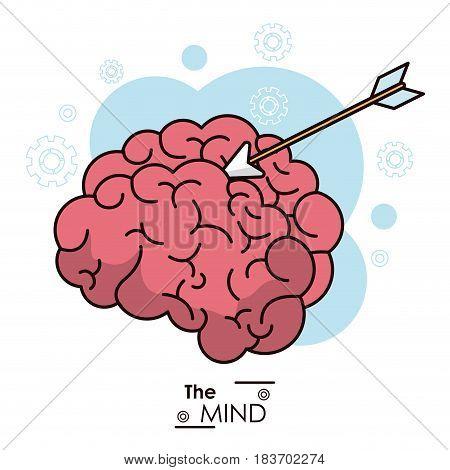 the mind arrow target objetive business design vector illustration
