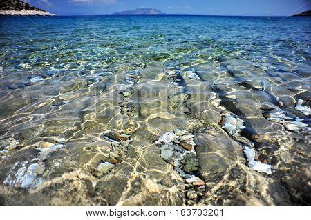 Sea near Kefalonia island Greece