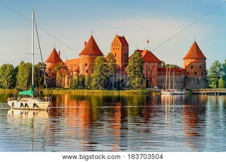Trakai Island Castle - a popular tourist destination in Lithuania