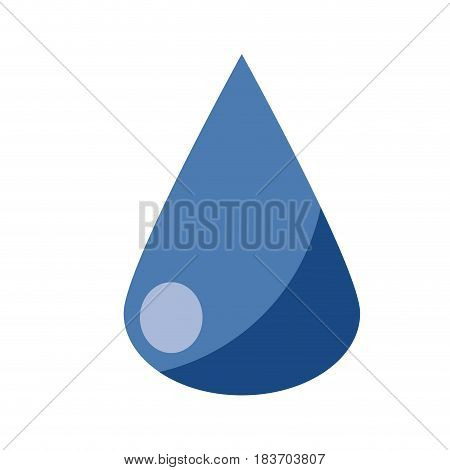 water drop icon over white background. vector illustration