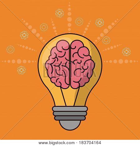 brain bulb idea creativity innovation vector illustration
