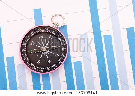 Compass and Business graphs , Finance Concept