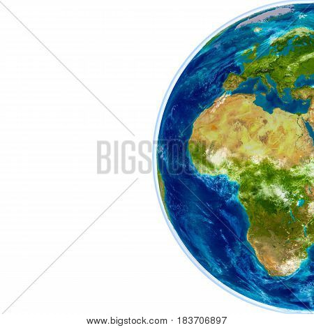 Europe And Africa On Physical Globe