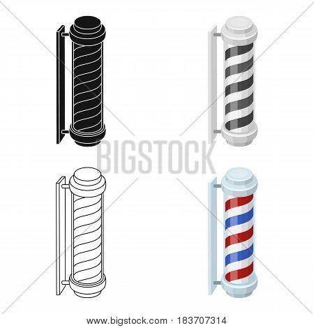 Barber logo.Barbershop single icon in cartoon style vector symbol stock illustration .
