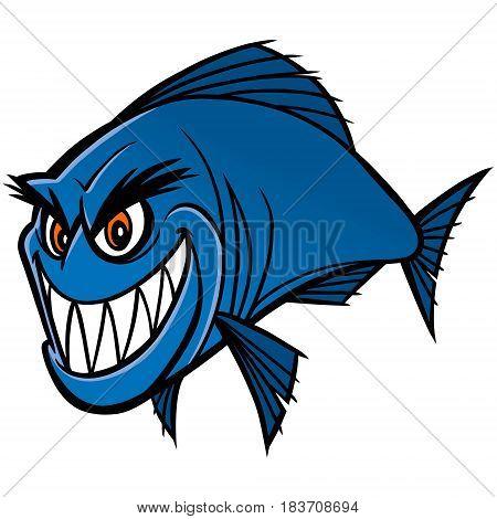 A vector illustration of a amazon Piranha.