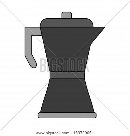 color graphic metallic tea pot for hot drinks vector illustration