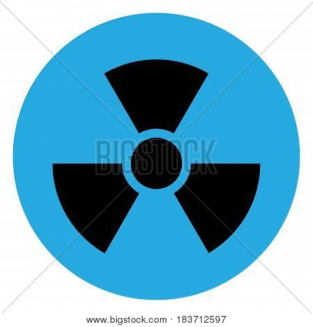 Isolated chemical symbol on a blue button, Vector illustration