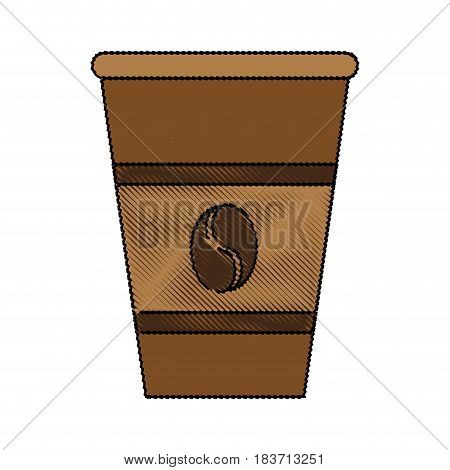 color blurred stripe of glass disposable for hot drinks vector illustration