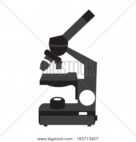 Isolated silhouette of a microscope, Vector illustration