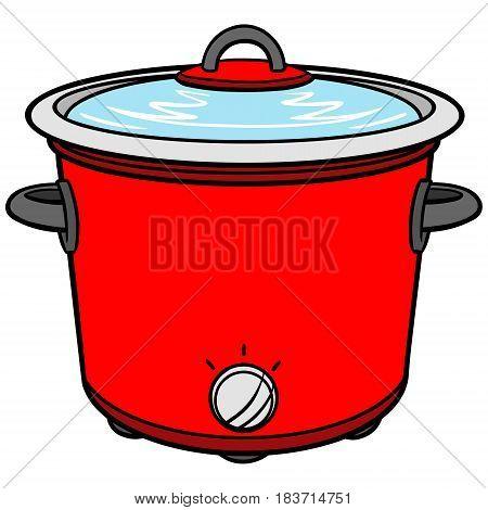 A vector illustration of a Crock Pot.
