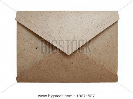old envelope isolated on white background