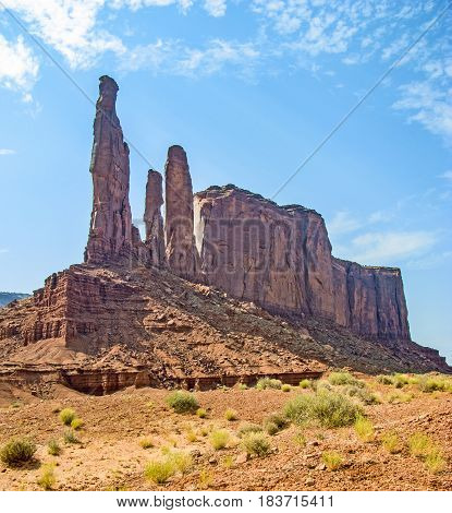 Camel Butte Is A Giant Sandstone Formation In The Monument Valley That Resembles A Camel