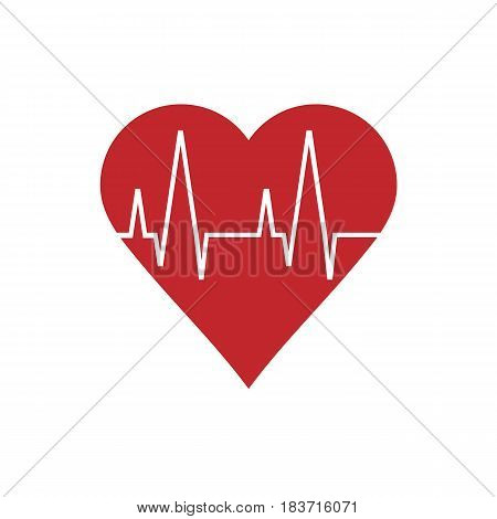 heart pulse isolated on background. Vector illustration. Eps 10.
