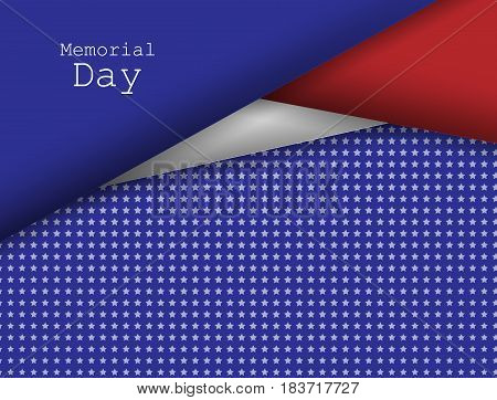 Memorial day vector design. Holidays background. Colorful elements, template for greeting cards. Eps10