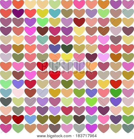Hearts multicolored bright vector retro nice background