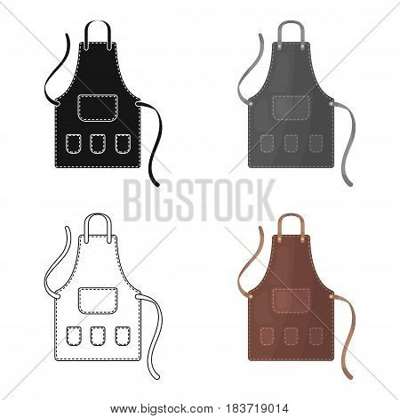 Apron of a hairdresser with pockets.Barbershop single icon in cartoon style vector symbol stock illustration .