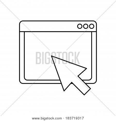 Internet browser window flat vector illustration design