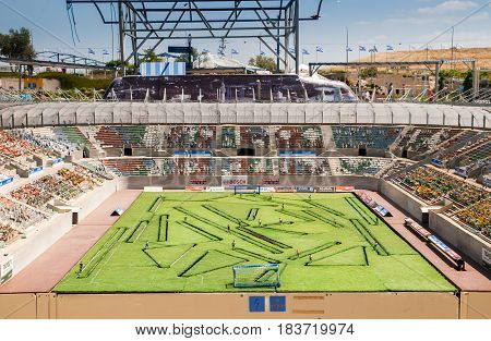 Teddy Stadium Is A Football Stadium In Jerusalem, In Mini Israel - A Miniature Park Located Near Lat