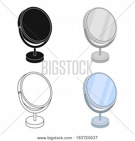 Desk mirror.Barbershop single icon in cartoon style vector symbol stock illustration .