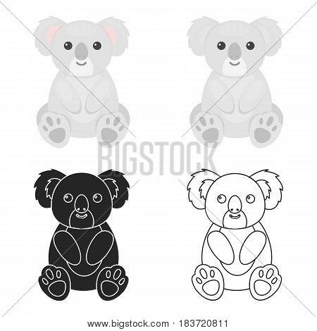 Koala icon cartoon. Singe animal icon from the big animals cartoon.