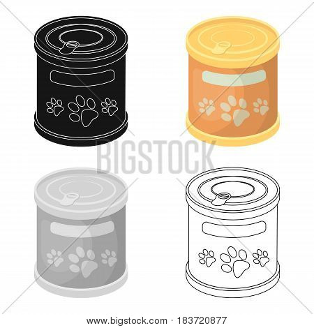 Food for animals.Pet shop single icon in cartoon style vector symbol stock illustration .