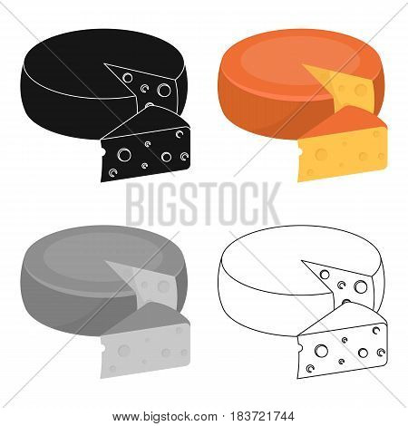 A real Belgian cheese.The dark Belgian wolf. Belgium single icon in cartoon style vector symbol stock web illustration.