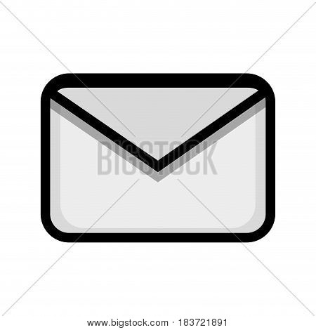 letter message to communication concept icon, vector illustration