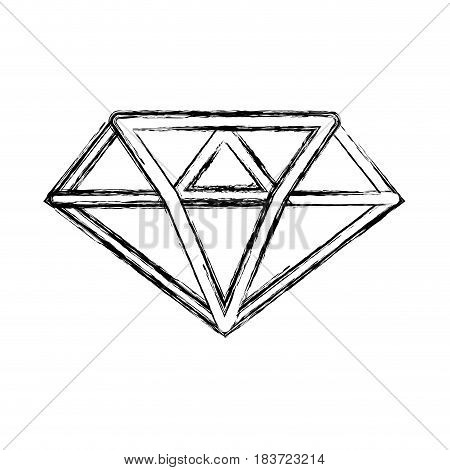 figure luxury diamond cristal gem, vector illustration