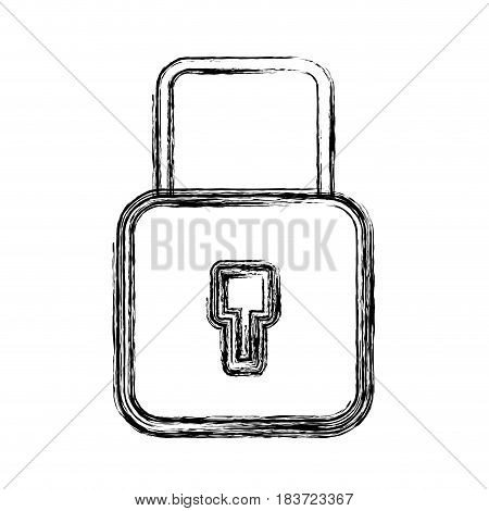 figure security padlock key to protection information, vector illustration