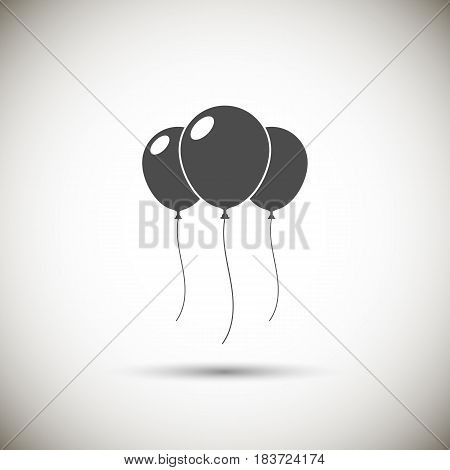 ballon icon isolated on background. Vector illustration. Eps 10.