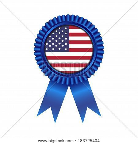 Medal with United State of America flag illustration design isolated on white background