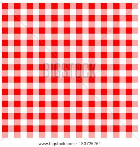 A vector illustration of a red tablecloth.