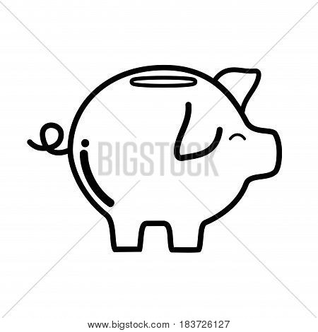 pig icon save money currency, vector illustration
